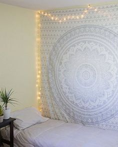 "Exclusive ""Twin Gray Ombre Tapestry by JaipurHandloom"" Ombre Bedding , Mandala Tapestry, Multi Color Indian Mandala Wall Art Hippie Wall Hanging Bohemian Bedspread"