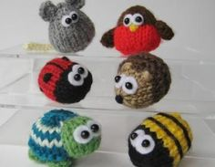 6 Teeny Toy Animal Knitting Pattern..