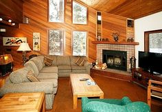 Where To Stay: Simple adornments exemplify a wooden cabin. Stay in a log cabin style rental that highlights the fact you're in Mammoth.