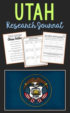 UTAH State History Research Project. This complete notebook unit is the perfect companion to your annual state studies. Your students will use the internet to research a variety of topics to include: economics, government, geography, politics, current events, higher education, weather, historical figures, Native Americans, state symbols and icons, historic timeline, state flag, folk songs, Westward Expansion, the Civil War, and the Industrial Revolution.