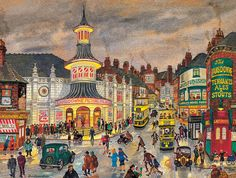George Cunningham - London Road - Sheffield Print in Art, Prints, Contemporary (1980-Now) | eBay