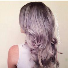 Silver/lavendar hair