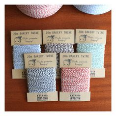 Cute packaging for bakery twine.
