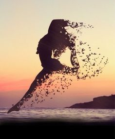 Girl-Dance-Beace-Sunset-Butterfly-Jump-Shiwi