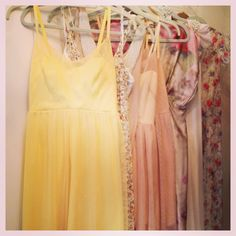 Dahl NYC lemon yellow bridesmaid pastel silk and tulle dress...