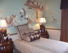 I love this wallpaper ndash with its sophisticated equestrian ...