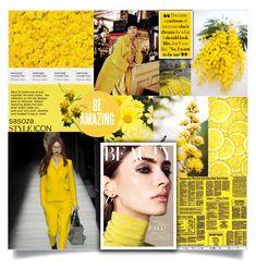 """Yellow inspiration by Sasoza"" by sasooza ❤ liked on Polyvore featuring Bottega Veneta"