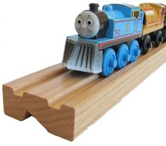 Train Shelves for Thomas trains. My little boys would love having these shelves in their bedroom!