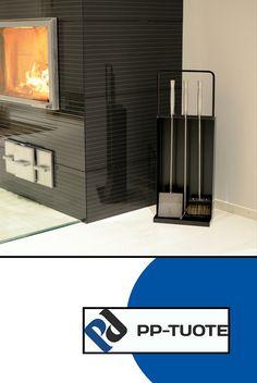 PP-TUOTE from Finland – 'Takkasetti' Fireplace Set/Fireside Companion in Steel, Black Modern Fireplace Tools, Tool Steel, Shovel, Aluminium, Hearth, Poker, Traditional, Elegant, Home Decor