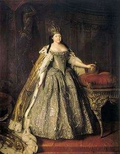 Ánna I Ivánovna (1693-1740), Empress of Russia (1730-1740) in her own right. She was a daughter of Tsar Iván V and his wife, Praskóv'ya Fëdorovna Salt'ikóva. She was The Duchess of Courland and Semigallia (1710-1711) as the wife of Friedrich Wilhelm Kettler The 5th Duke of Courland and Semigallia. She had no children.
