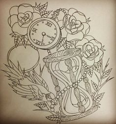 HOUR GLASS AND COMPASS TATTOO IDEAS FOR JACKSONVILLE