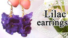 МК: Серьги - сирень из пластики // DIY: Lilac earrings Polymer Clay Tuto...