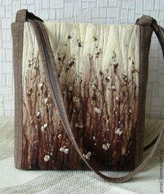 """Купить Сумка """" Сосновый бор"""" - коричневый, абстрактный, сумка ручной работы"""