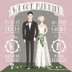 mizeedraw / wedding / illust / anniversary / dress /if anyone wants to buy my illust, plz message me ^^