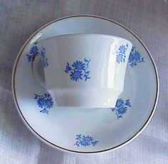 Vintage Arabia Made in Finland Blue Cornflower Teacup by Jjantiq, $12.00