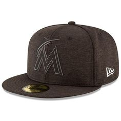 2874ccdaf9e Men s Miami Marlins New Era Heather Black 2018 Clubhouse Collection 59FIFTY  Fitted Hat