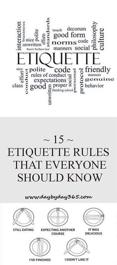 15 ETIQUETTE RULES THAT EVERYONE SHOULD KNOW
