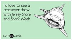I'd love to see a crossover show with Jersey Shore and Shark Week.