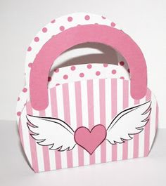 Don't Eat the Paste: Winged Heart Purse Box Printable Box, Printables, Oh My Fiesta, Paper Purse, How To Make Box, Card Envelopes, Free Coloring Pages, Minnie, Paper Crafts