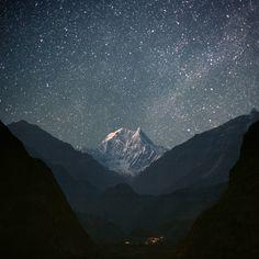 NILGIRI SOUTH (6,839 m) by Anton Jankovoy