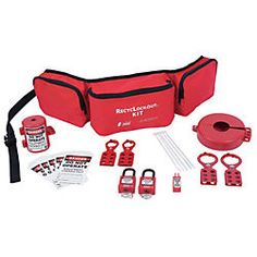 Belt Pack Recycled Lockout Kit With 20 Components - 7135 ZING - Each