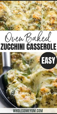 Baked Easy Cheesy Zucchini Casserole Recipe (Zucchini Gratin) - This easy zucchini gratin recipe is a baked cheesy zucchini casserole that everyone will love! Healthy, low carb, gluten-free, and delicious. Only 10 minutes prep time Vegetable Casserole Healthy, Healthy Casserole Recipes, Zucchini Casserole, Healthy Dessert Recipes, Raw Food Recipes, Veggie Recipes, Cooking Recipes, Freezer Recipes, Freezer Cooking