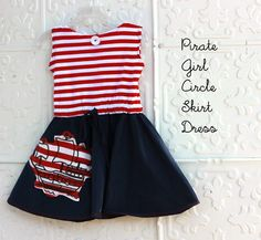 Pirate Ship Dress With A Circle Skirt: Tutorial