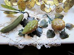Vintage Fruit  Vintage Hand Carved Jade by JewelsOfHighElegance, $80.00