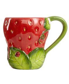 Martha Stewart Collection Serveware, Set of 2 Strawberry Mugs