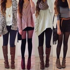 tall brown boots outfits - Google Search