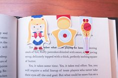 """Sailor Moon Magnetic Bookmarks 
