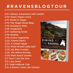 Follow along as Dining at The Ravens goes on a blog tour! #DiningatTheRavens #RavensBlogTour