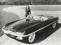 "1953 Dodge Firearrow ""idea car"" inspired the Rat Pack's signature ride, the Dual Ghia."
