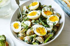 A hearty potato salad with asparagus, soft boiled eggs & a creamy buttermilk dressing - great for a springtime spread. See more online at Tesco Real Food.