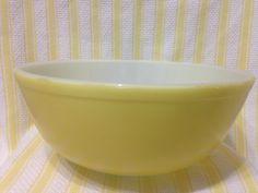 Vintage Pyrex Yellow 404 Primary Nesting Bowl Pyrex Primary