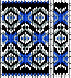 BeadBag: Persian Tile - Peyote Beadwork Chart
