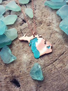 Michigan necklace from .sprouts. | .roots. - Grand Haven, Michigan based business   #WadingInBigShoes