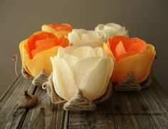 Rustic Fall Wedding Decor Wedding Table Flowers Set of by VENDecor, $27.00