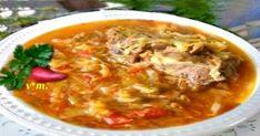 Bors de varzá ·  - 1,5-2kg. varzá ·  - 1kg costitzá de porc ·  - 1cea... Supe, Thai Red Curry, Chili, Beef, Ethnic Recipes, Pork, Meat, Chile, Chilis