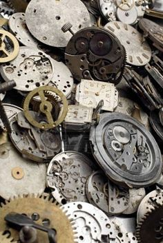 vintage clock parts - ALWAYS buy these when you find them - they can be used for so many different things.
