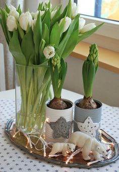 Mom's stuff: January 2013 mamas kram: Januar 2013 Mom's stuff: January 2013 The post Mom's stuff: January 2013 appeared first Spring Sign, Spring Art, Spring Home, Christmas And New Year, Christmas Crafts, Diy Crafts To Do, Flower Arrangements, Plants, White Tulips