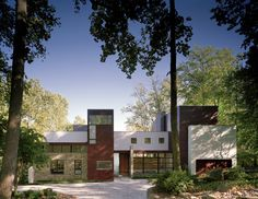 Front elevation. Crab Creek House, by Robert Gurney Architect. Annapolis, Maryland. #exterior