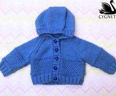Free baby hoodie knitting pattern