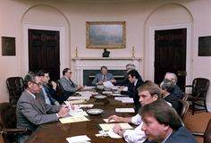 Jimmy Carter in a meeting