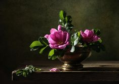 Fine Art Photograph Photograph - Still Life With Dog Rose Flowers. by Diana Amelina