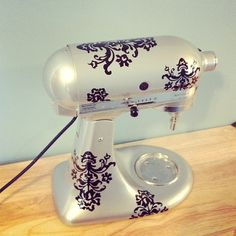 Damask Kitchen Aid Decal by BrookLeeCreations on Etsy, $14.00. Make your mixer one of a kind with these decals.