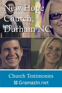 New Hope Church of Durham NC has published testimonies on their website.