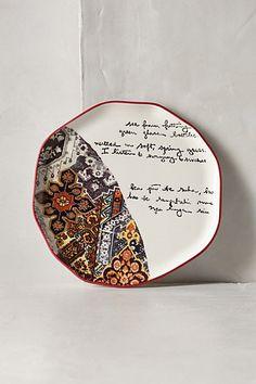 Lyrical Dessert Plate #anthropologie