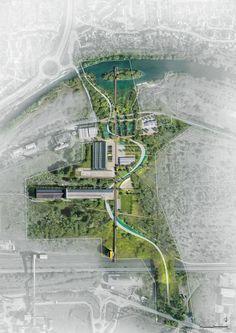 51 Ideas For Landscape Design Masterplan Architecture Architecture Site, Architecture Design Concept, Masterplan Architecture, Landscape Architecture Drawing, Landscape Design Plans, Landscape Concept, Urban Landscape, Parque Linear, Urban Design Plan