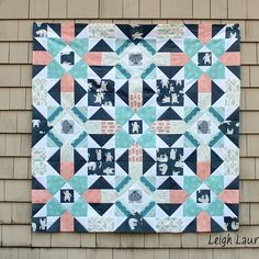 """@leighlaurelstudios - The tutorial for this 15"""" block is up on my blog! Awesome fabric (so easy to work with) is the new #fairislefabric by @hawthornethreads It will be backed in white minky! #minkyforthewin"""